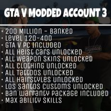 GTA 5 Modded Account Tier 3