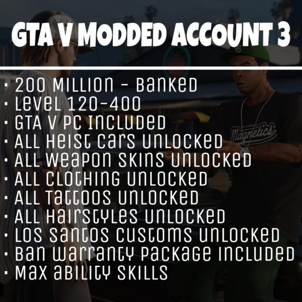 GTA 5 Modded Account Tier 3