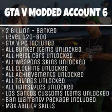 GTA 5 Modded Account Tier 6
