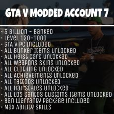 GTA 5 Modded Account Tier 7
